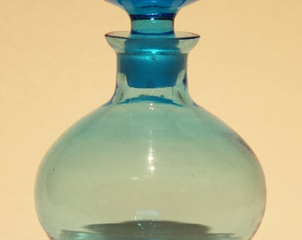 Vintage Blue Glass Perfume Bottle