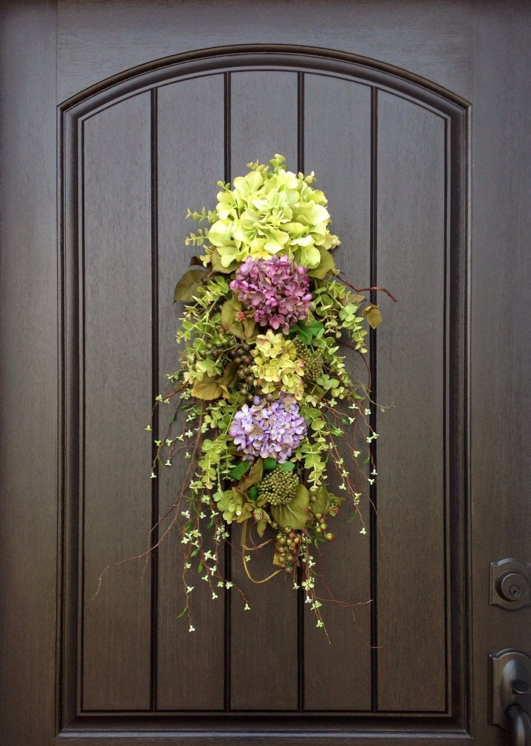 Spring wreath summer wreath wispy wild teardrop twig door swag for Decor to your door