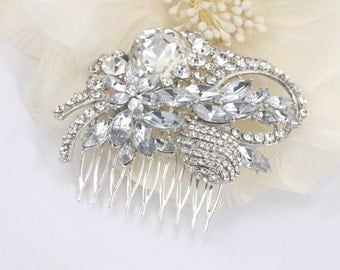 Graceful Delight - Austrian Rhinestone Bridal Hair Comb