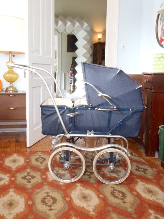 Pram English Baby Buggy Vintage Pedigree Baby Carriage Full