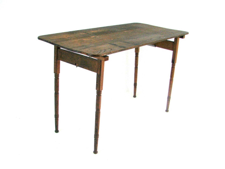 Antique primitive furniture - Reserved Antique Table Folding Table 1920s Primitive Furniture