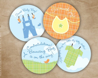 Baby Shower Party Circles Decoration Print Your Own