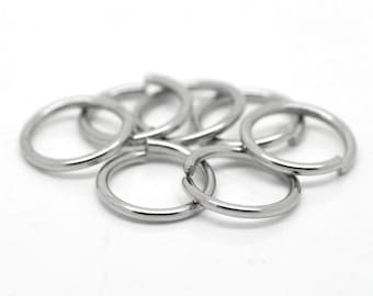 10mm Jump Rings : 100 Antique Silver Jump Rings -- 10mm x 1.2mm Open Jump Rings 18 Gauge ... Lead, Nickel & Cadmium free 10/1.2