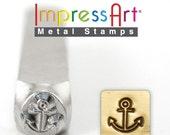 ANCHOR - Metal Stamp - SALE - Design Stamp 6mm - Metal Design Stamp for Hand Stamped Jewelry - Design Punch ImpressArt