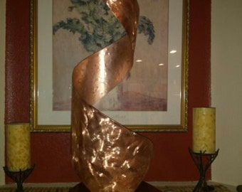 "Copper Art Sculpture by Dennis Boyd (DB Designs - Creating Metal ""works of art"") Sculpture 31"