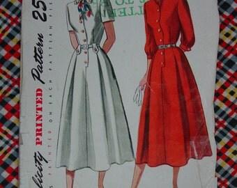Vintage Pattern 1948 Simplicity No.2457 Dress, Size 14