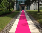 Hot Pink  Custom Made Aisle Runner 15 Feet Long 36 inches Wide