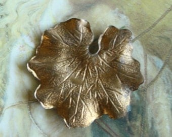 Vintage Old Brass Victorian Lilly Pad Piece