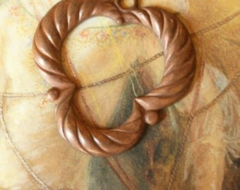 Vintage Old Brass Openwork Deco Pendant Piece