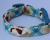 Pokey Little Puppy Blue Dog Collar Size Extra Small or Small