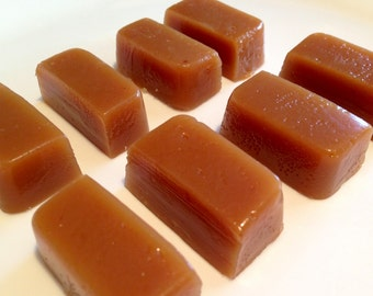 Vanilla Caramels, handmade gourmet caramel, all natural and gluten free.
