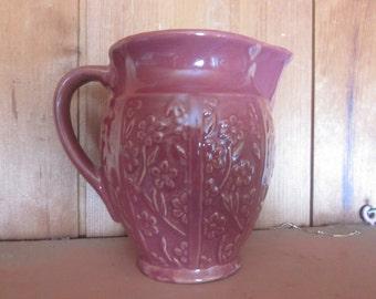 """vtg pottery pitcher..great shape,,,6"""" tall..pottery"""