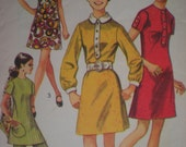 1969 Mod Wardrobe Dress, Tunic, and Pants Simplicity Sewing Pattern 8585, Size 12, Bust 34
