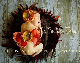 Fall Splendo Butterfly Wings and Headband Set  Photo Prop First Photos
