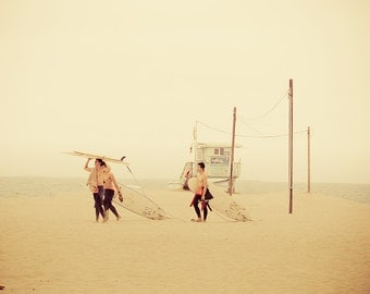 "Beach Photography - Los Angeles , surfing art print, ""Surf Culture"""