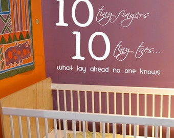 10 tiny fingers - Words and Letters Decal