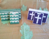 Plastic Canvas Checkbook Covers with Matching ID Holders