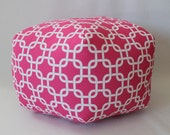 """24"""" Pouf Ottoman Floor Pillow Hot Pink Gotcha Chain"""
