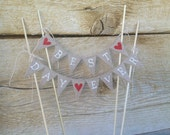 Best Day Ever Wedding baker banner Cake Topper Banner, pie topper, bunting,