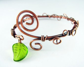 Wire Wrapped Bracelet Copper Bracelet Wire Wrapped Jewelry Copper Bangle Copper Cuff