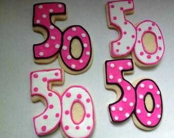 50 birthday or anniversary Sugar Cookies
