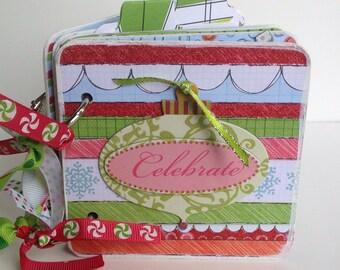 Christmas scrapbook premade scrapbook chipboard premade pages snowman joy snowflakes