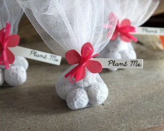 Pink Wedding Favors | Customized Wedding Favours | Trendy Wedding Favour ideas | Seed Bomb Wedding Favours | Plantable Favours | Pink