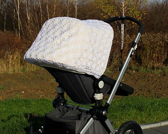 Crochet canopy cover for Bugaboo & UppaBaby strollers