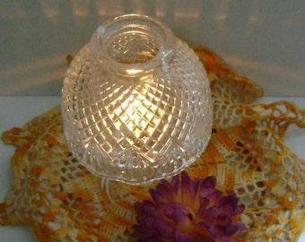 Clear Glass Diamond Pattern Fairy Lamp
