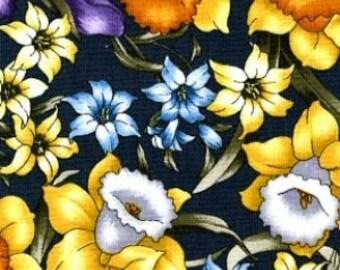 "Timeless Treasures ""Spring"" Grey Daffodils Fabric 1 Yard"