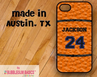 Custom Phone Case iPhone 6 5/5S 4/4S Samsung Galaxy S4 S5 - Basketball Mom Dad Player Name Number - Monogrammed Personalized