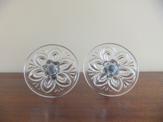 Antique Pressed Glass Curtain Tie Backs Pair By Vintageretrievers