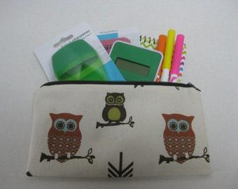 Owls Zipper Pencil Case (Hooter Owls)