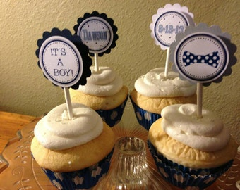Neck or Bow Tie Cupcake Toppers