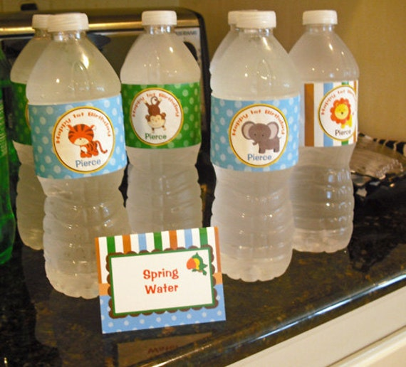 Animal Water Labels Printable Safari Jungle Zoo Animals