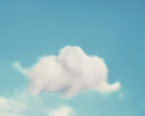 Items Similar To Elephant Nursery Art Cloud Photography