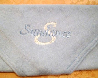Baby Blanket Personalized Embroidered Fleece Baby Receiving Blanket Baby Shower Christening Gift