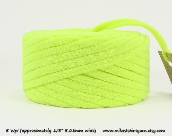 Neon Green T Shirt Yarn 34 Yards Recycled Tshirt