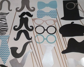 Wedding Photobooth Props, Photo Booth Props for weddings Set of 21 pcs