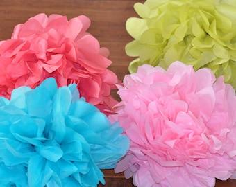 6 Tissue Poms {Garden Party}