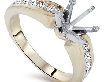 Diamond  .50CT Semi Mount Engagement Ring Setting Gold