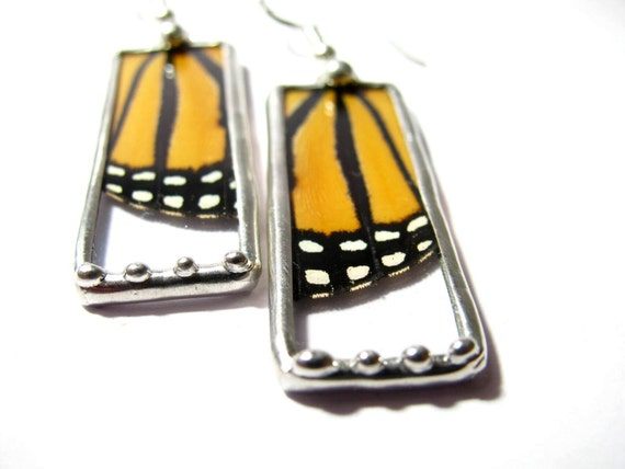 Real Butterfly Wing / Recycled Handmade Jewelry / Monarch Butterfly / Butterfly Jewelry