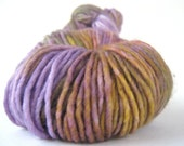 OWENS VALLEY Hand Dyed Yarn Merino DK purple, yellow, orange, green