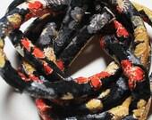 Japanese Chirimen kimono fabric cord - Chirimen fabric - Chirimen cord - Kimono fabric - Fabric cord c6