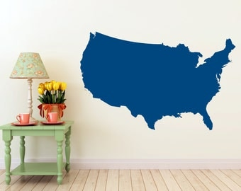 United States of America Map- Vinyl Wall Decal