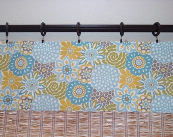Waverly Buttons and Blooms Designer Modern Kitchen Curtain Valance 52x14  52X16  52X18