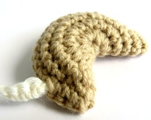 Fortune Cookie Crochet Catnip Toy