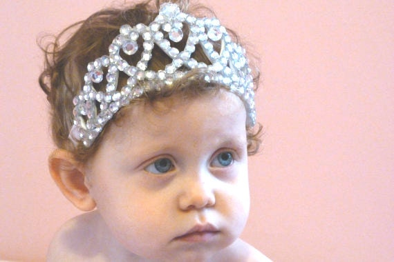 Baby Tiara Princess Headband, Im in Love, Princess Crown,1st Birthday
