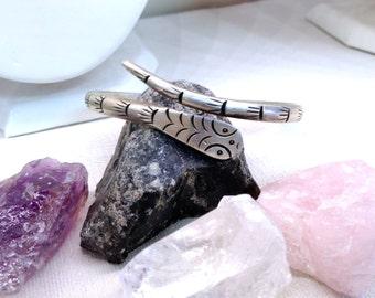 Amazing Sterling Silver Snake Bypass Wrap Bangle Bracelet