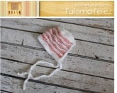 INSTANT DOWNLOAD - Crochet Baby Bonnet  Pattern - Baby Waves Bonnet Crochet Pattern